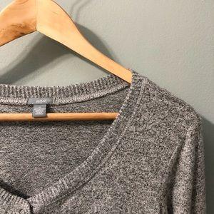 NWOT aerie grey long sleeve romper // size M